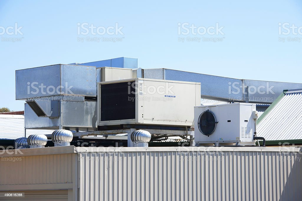 Roof top airconditioner stock photo