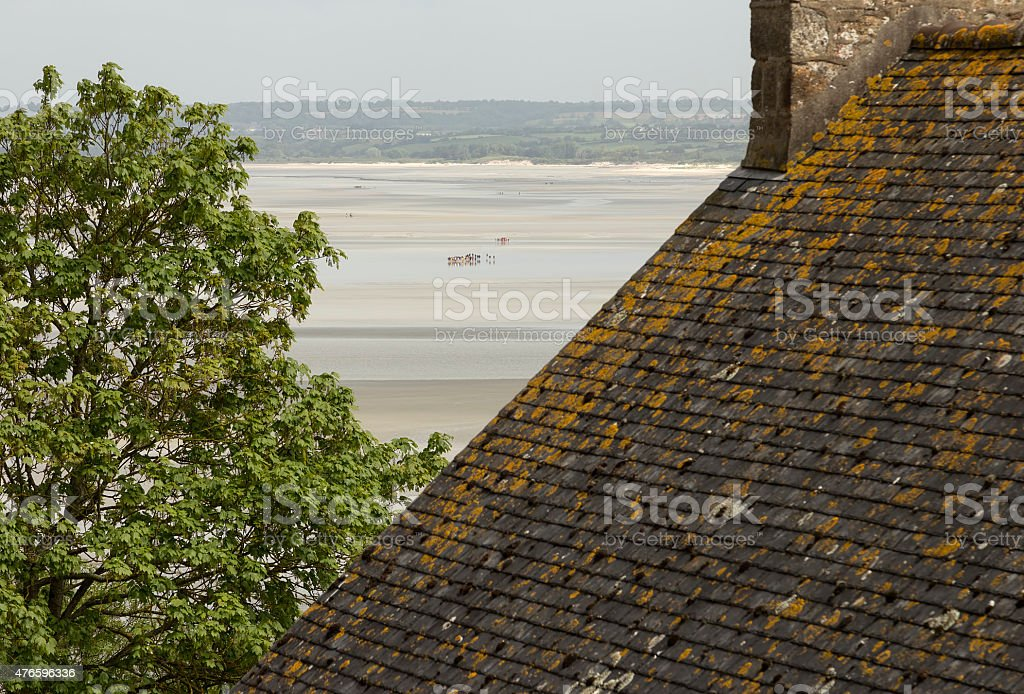 Roof top and pilgrims royalty-free stock photo