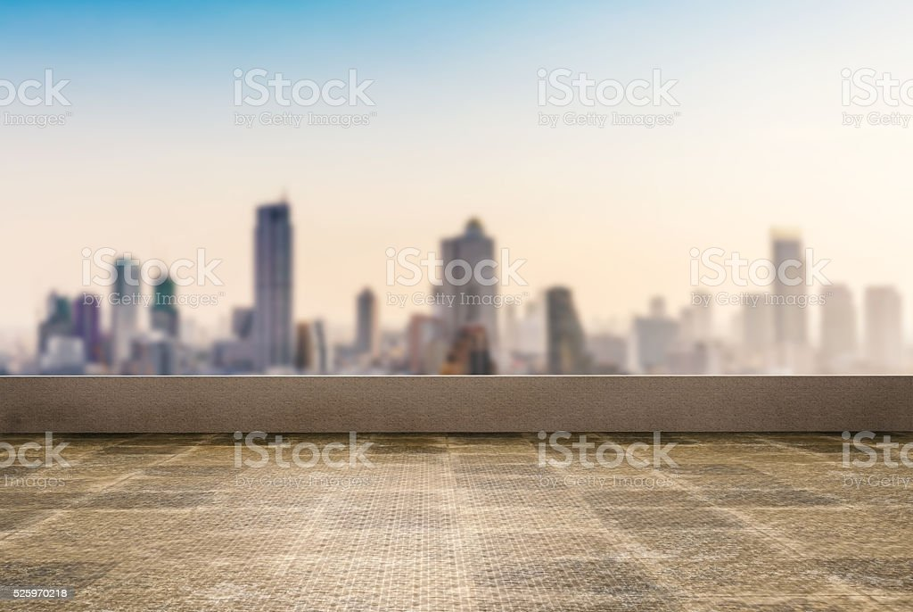 roof top balcony stock photo