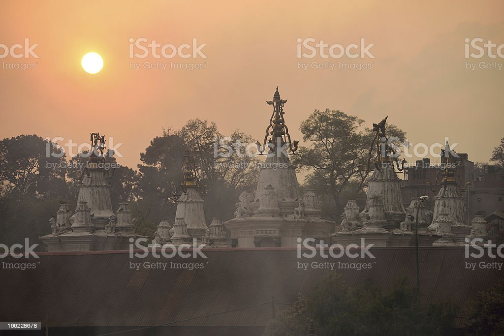 Roof top of stupa in Pashupatinath Temple , Nepal royalty-free stock photo