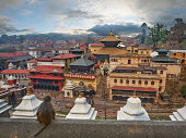 Roof top overview of Pashupatinath city line
