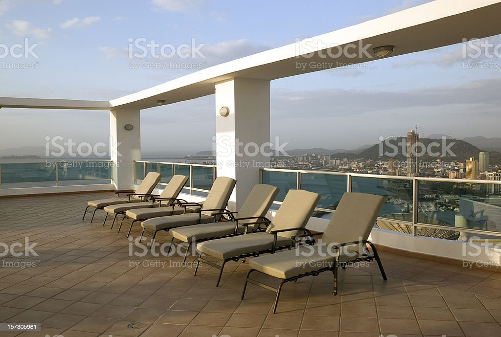 Roof Top Patio royalty-free stock photo