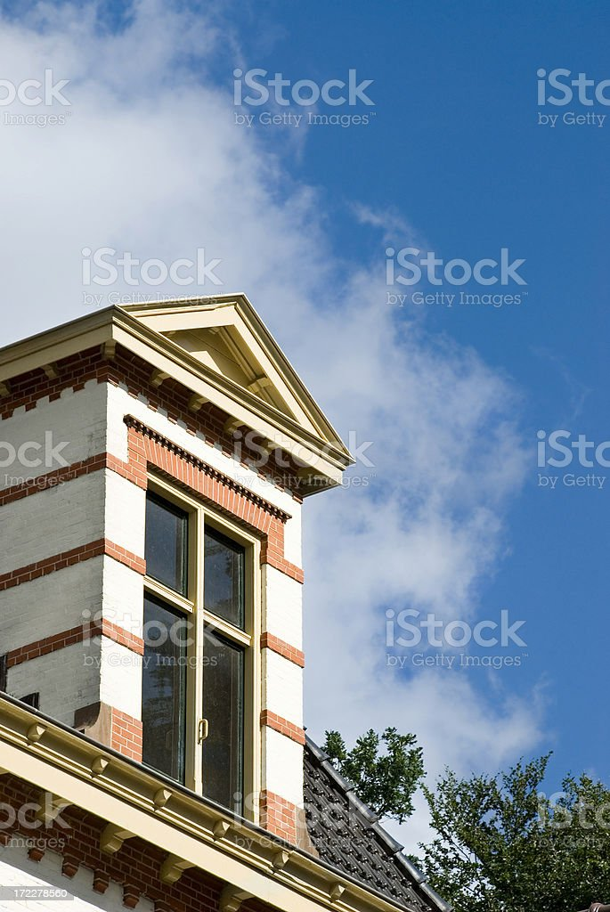 Roof Top Traditional Style stock photo