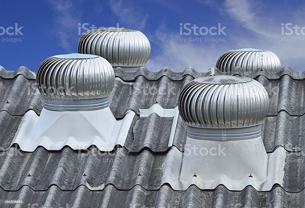 roof top ventilation system stock photo
