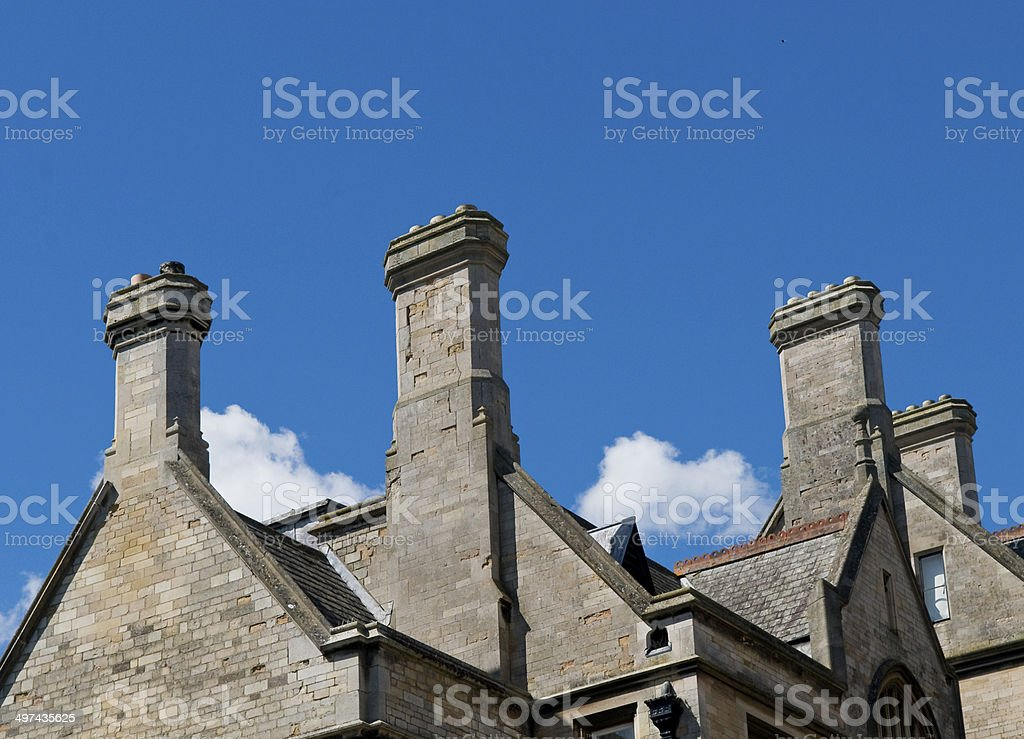 Roof tops and Chimneys stock photo