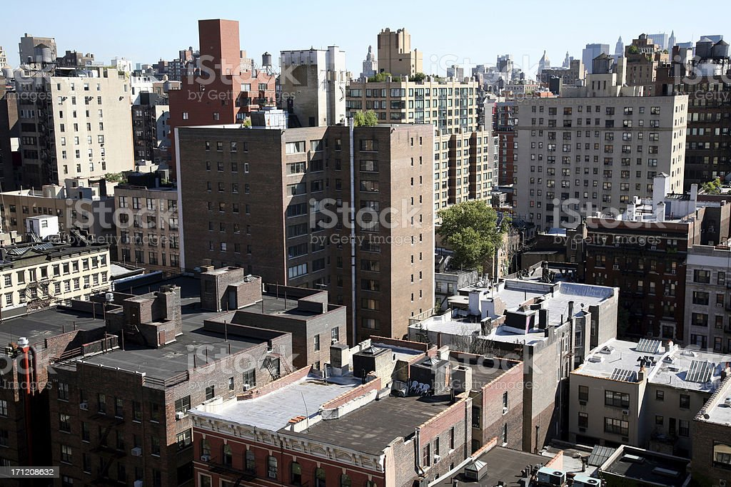 Roof tops in NYC royalty-free stock photo