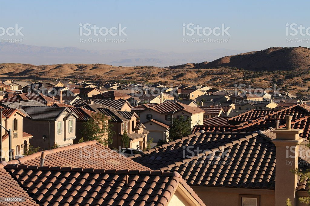 Roof Tops in Southern California stock photo