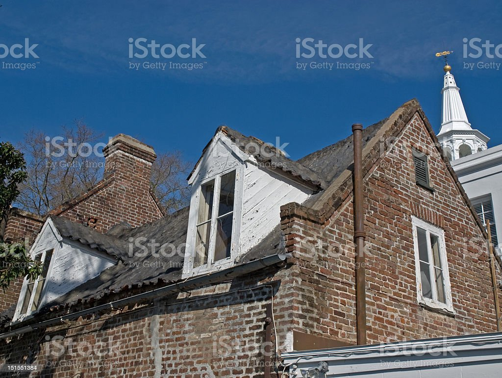 Roof Tops of Charleston royalty-free stock photo