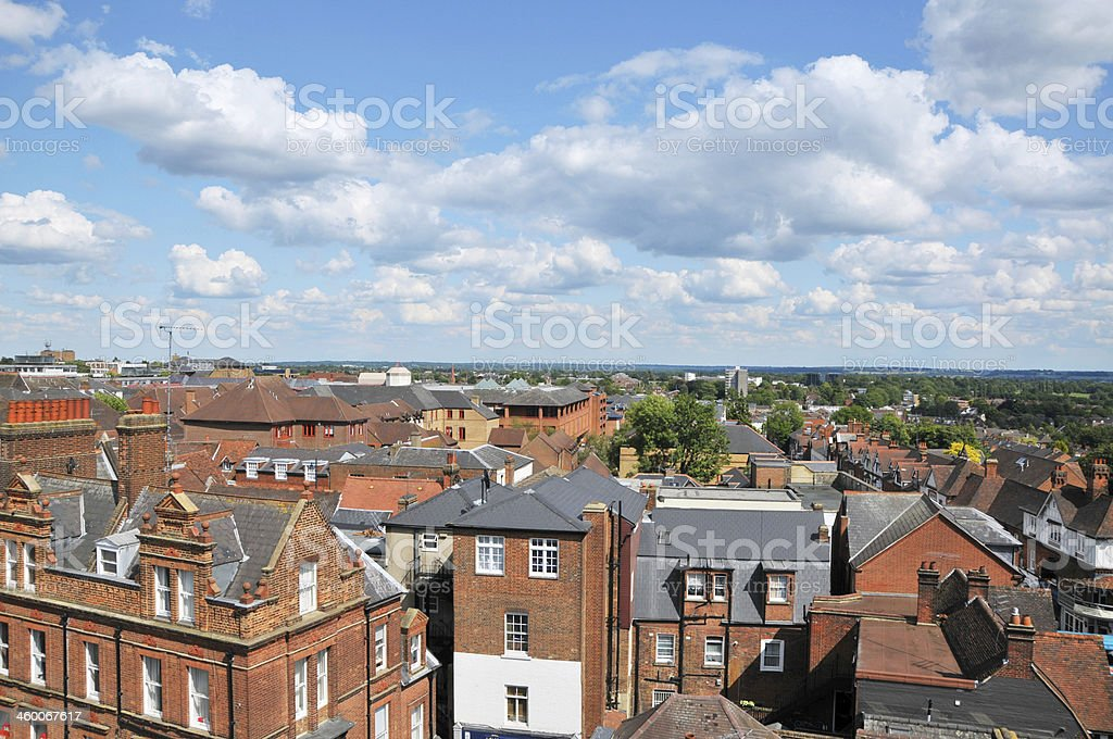 Roof Tops Over St.Albans stock photo