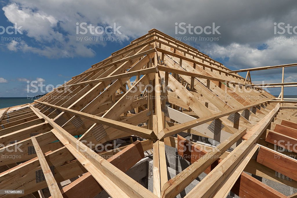 Roof Trusses stock photo