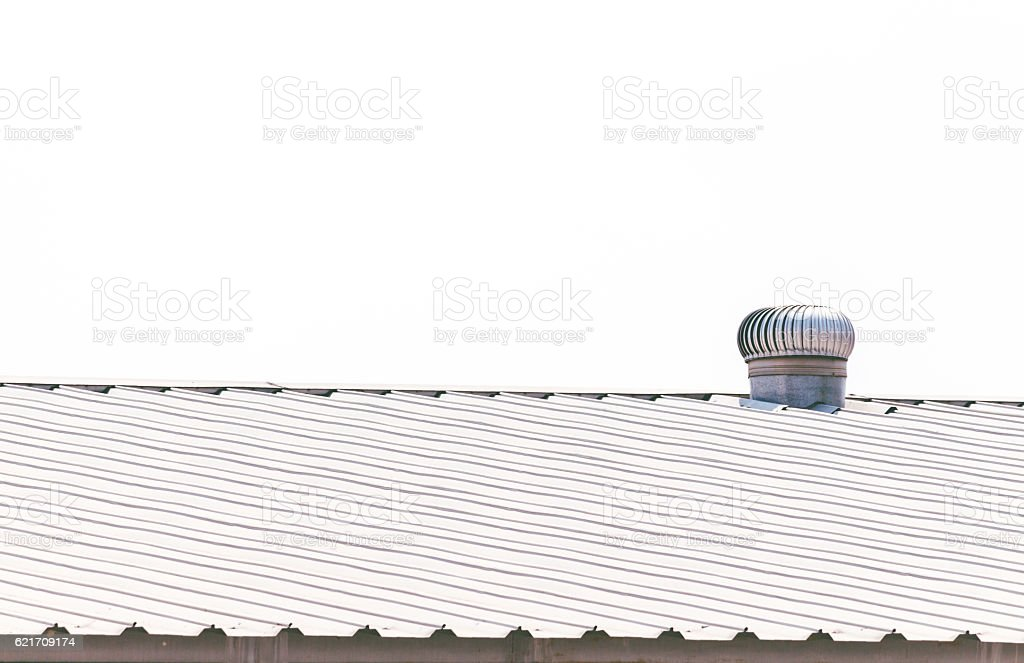Roof Ventilator Factory on a background stock photo