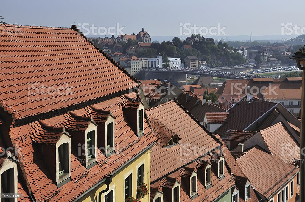 Roof way in Miessen royalty-free stock photo