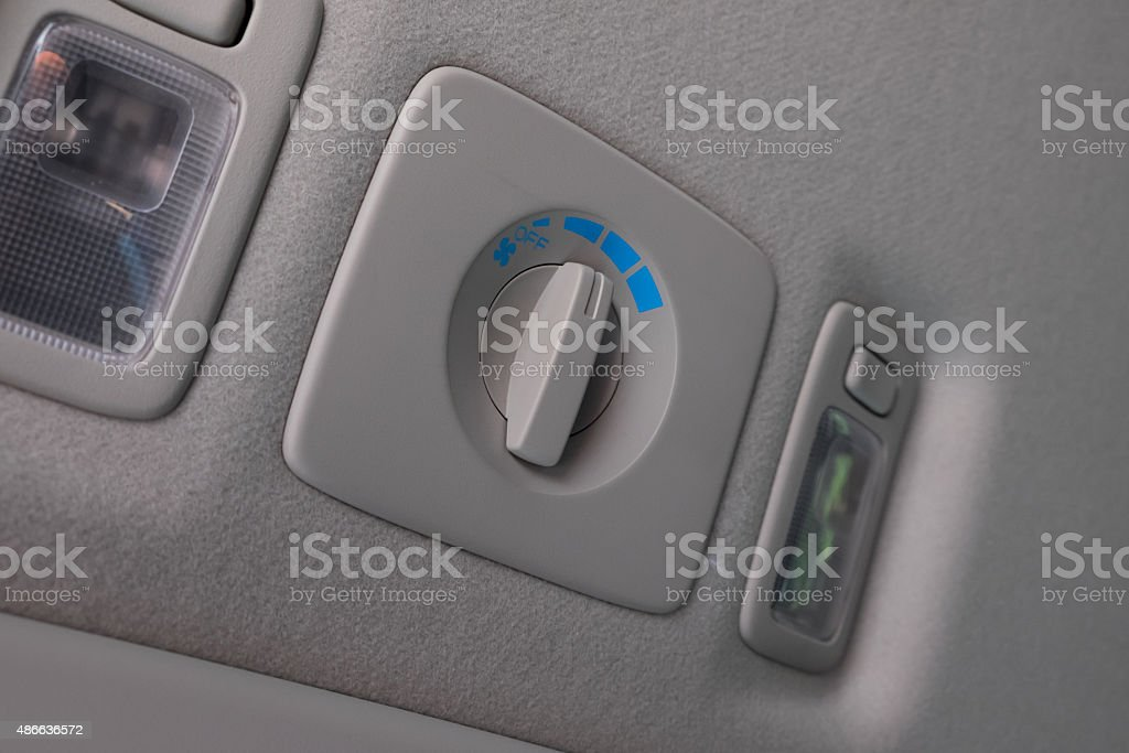 Roof wind Control button stock photo