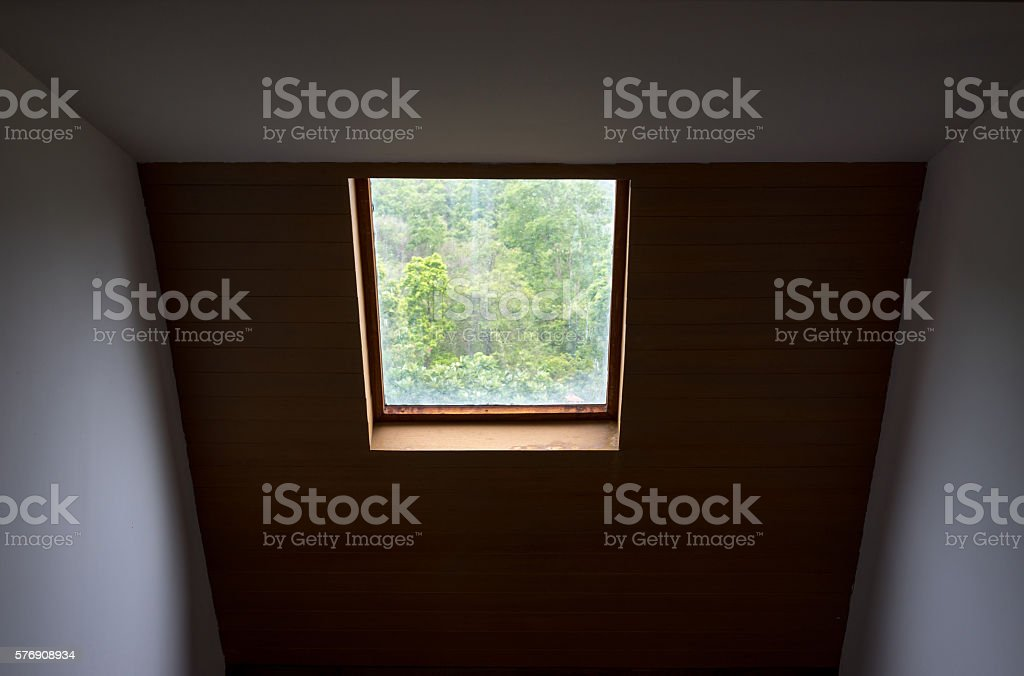 Roof window with trees in background photo libre de droits