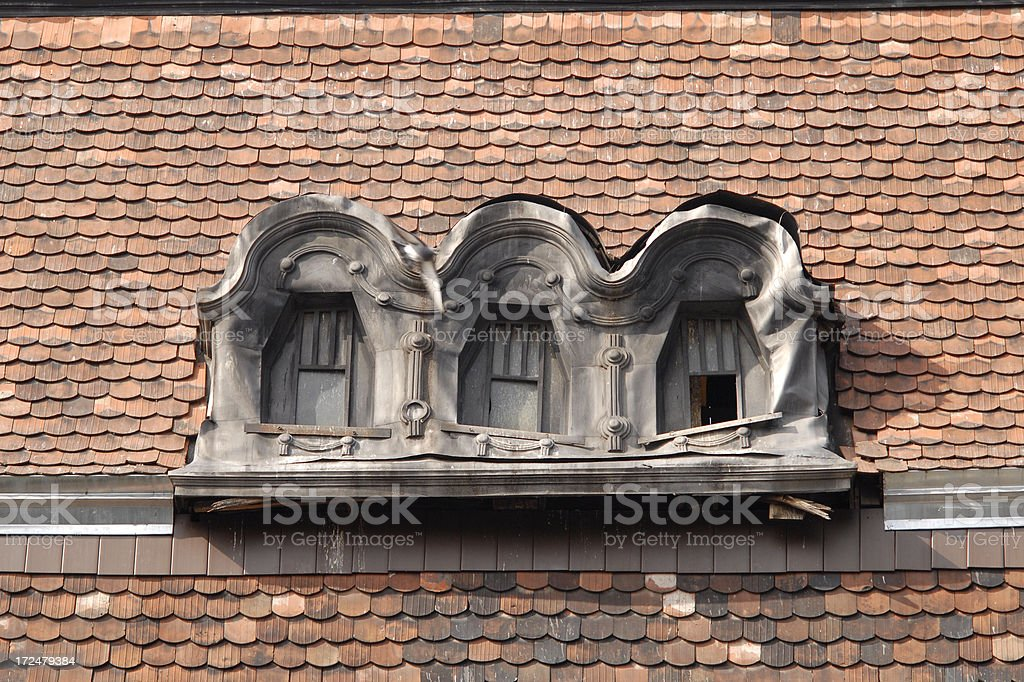 roof windows royalty-free stock photo