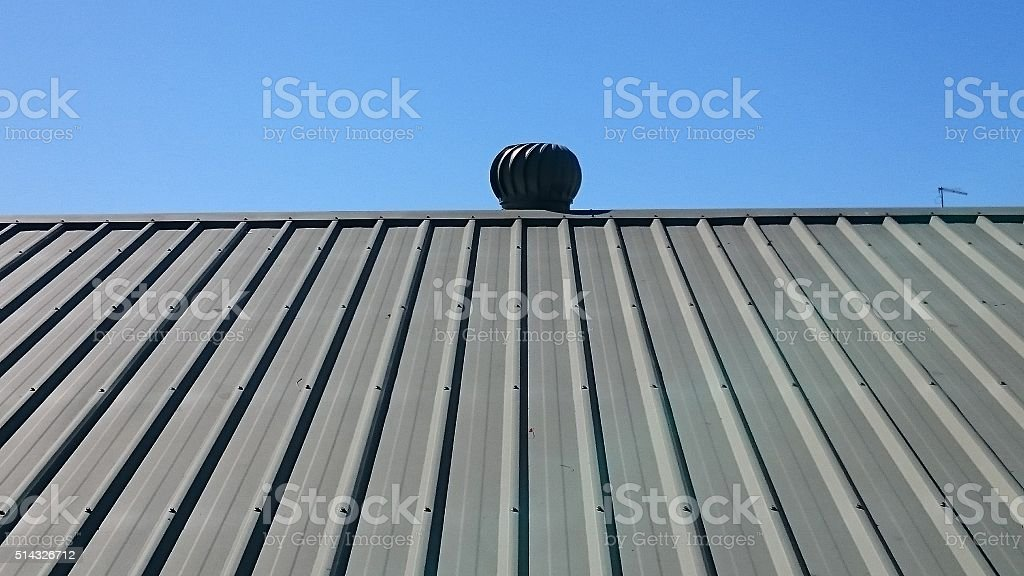 Roof with fan on top. stock photo