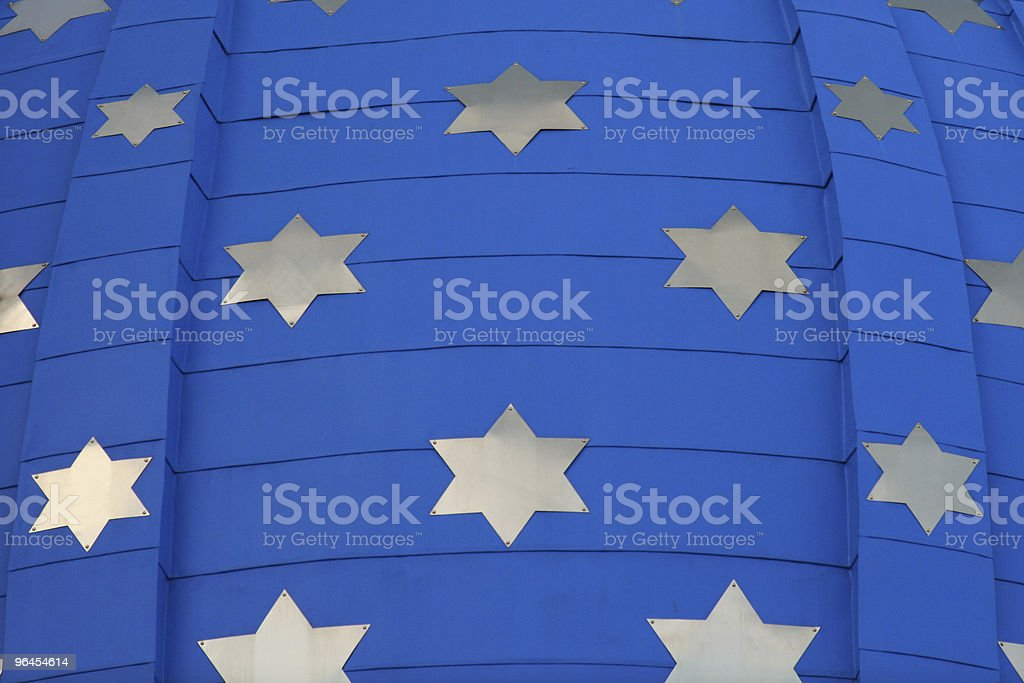 Roof with six-pointed stars royalty-free stock photo