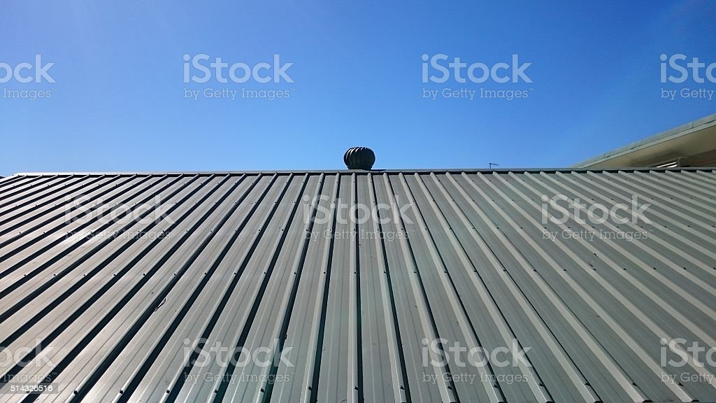 Roof with vent. stock photo