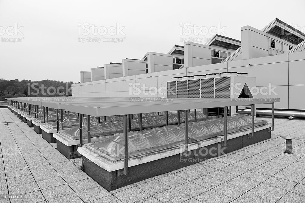 Roof with Windows royalty-free stock photo