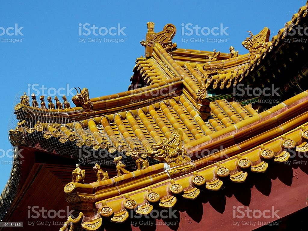 Roof_Temple_Chinese royalty-free stock photo