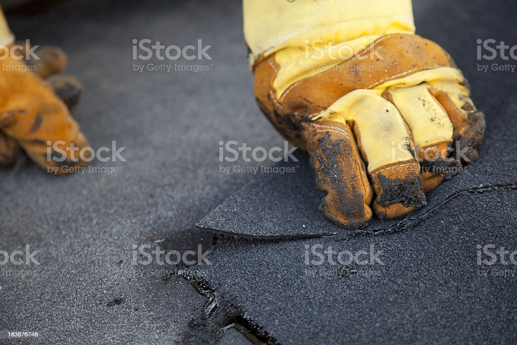 Roofer at work. royalty-free stock photo