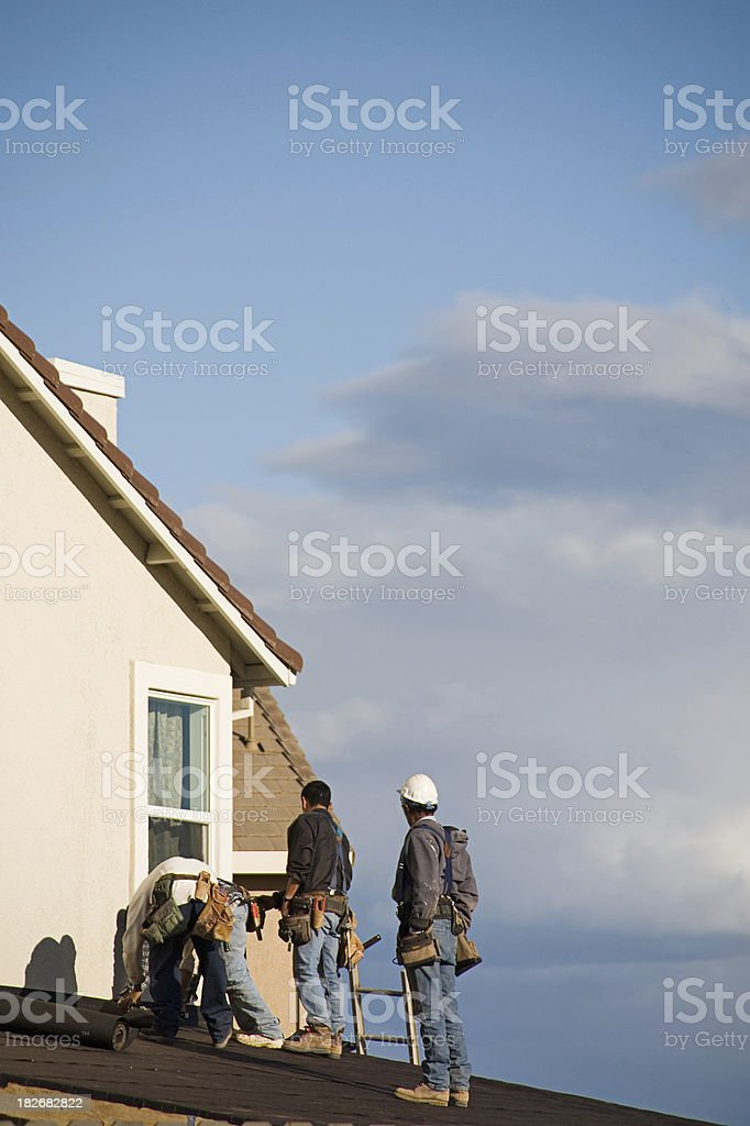 Roofers royalty-free stock photo