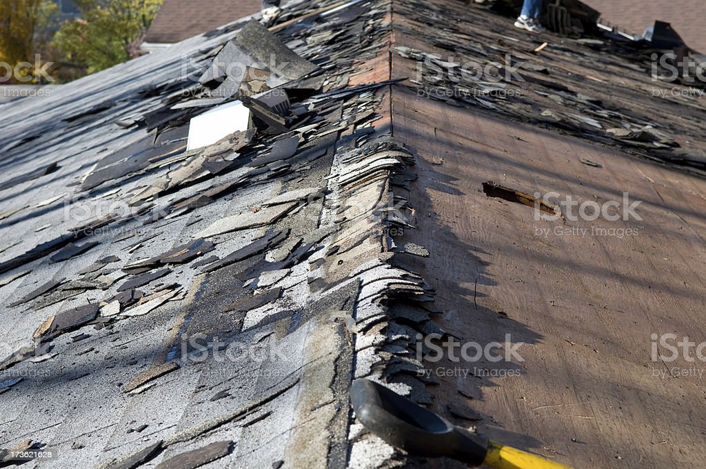 Roofing A Roof royalty-free stock photo