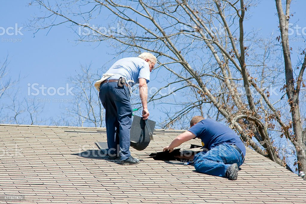 Roofing Contractor stock photo