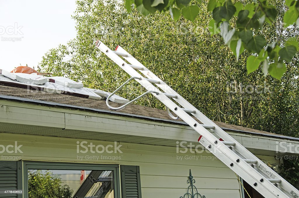 Roofing Ladder royalty-free stock photo