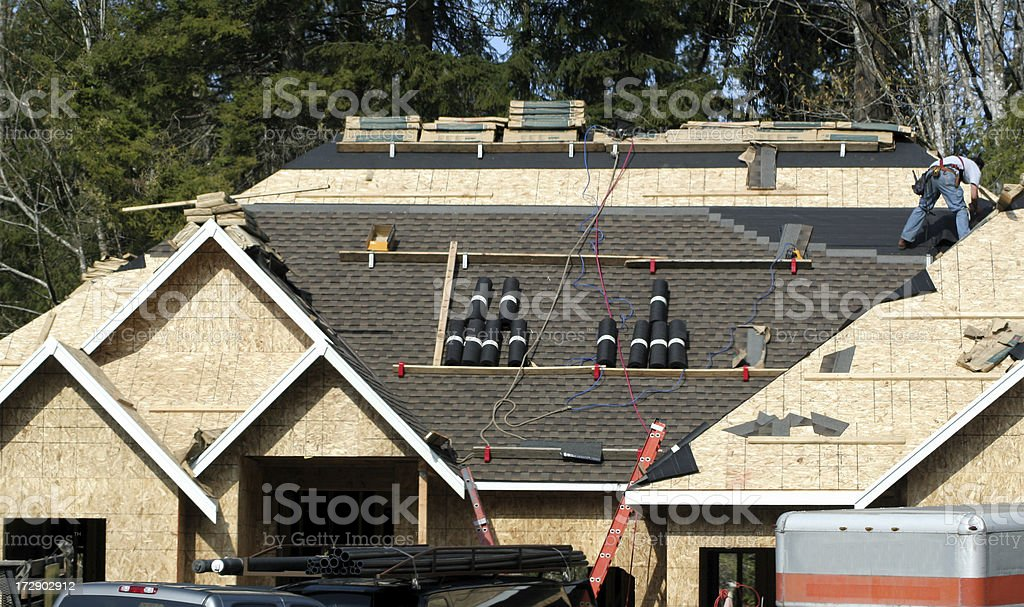 Roofing New Home royalty-free stock photo