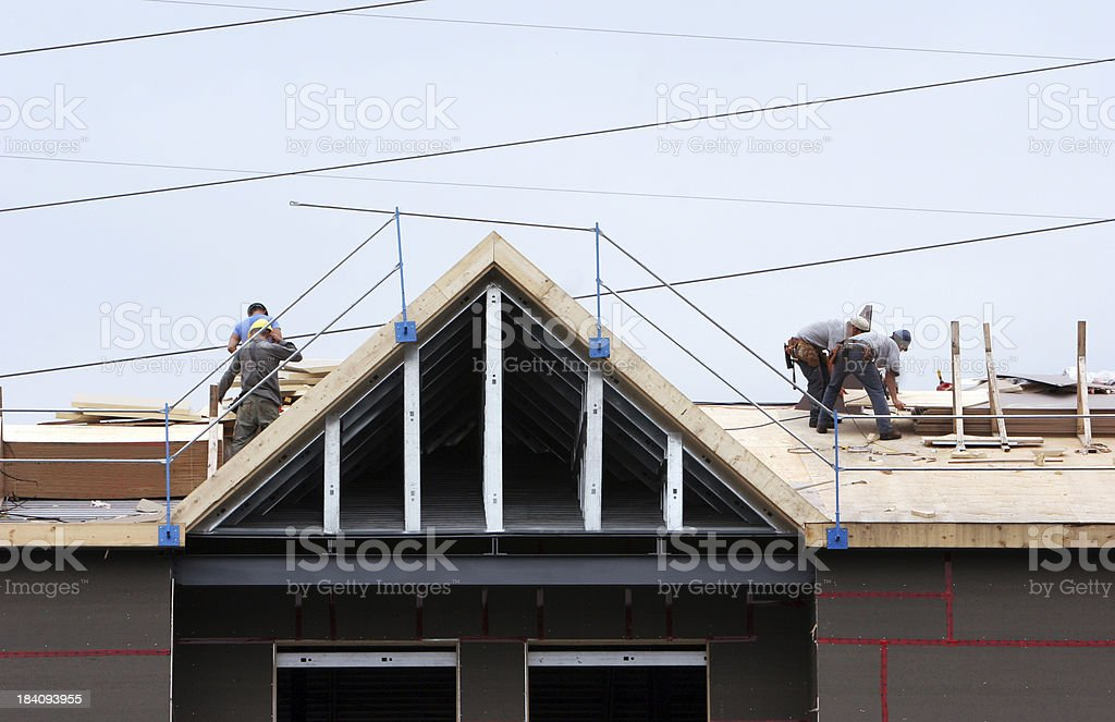 Roofing royalty-free stock photo