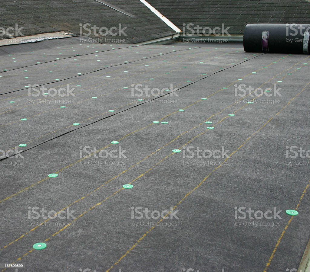 Roofing Project royalty-free stock photo