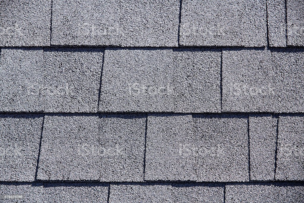 Roofing Shingles flat shake tab style gray pattern stock photo