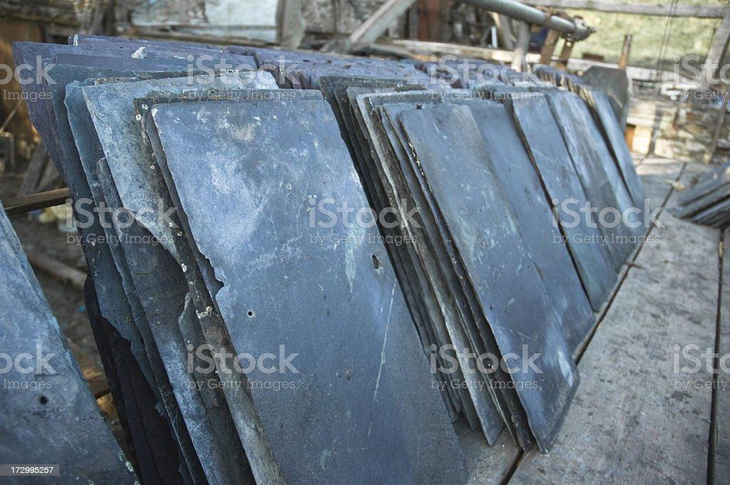 Roofing Slates stock photo