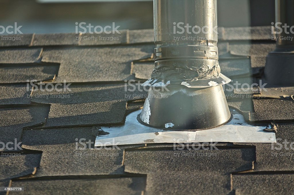 Roofing vent stock photo