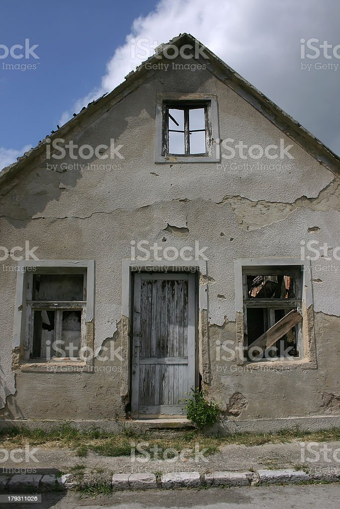 Roofless House royalty-free stock photo