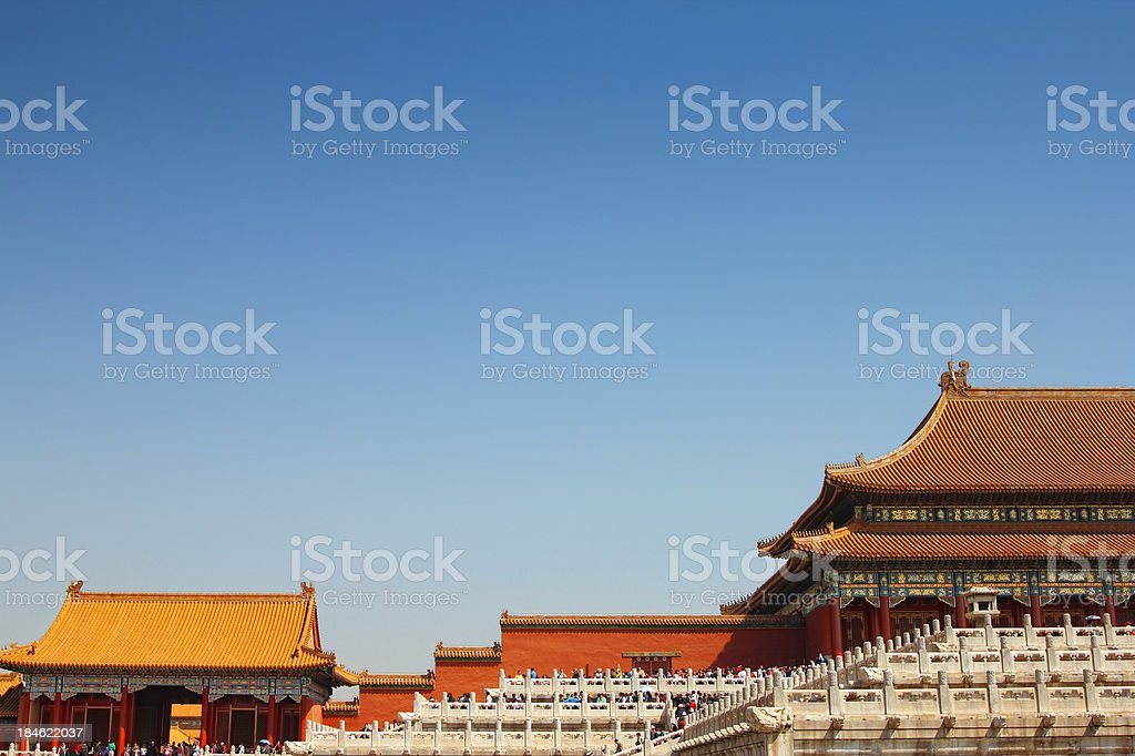 Rooflines of the Forbidden city royalty-free stock photo