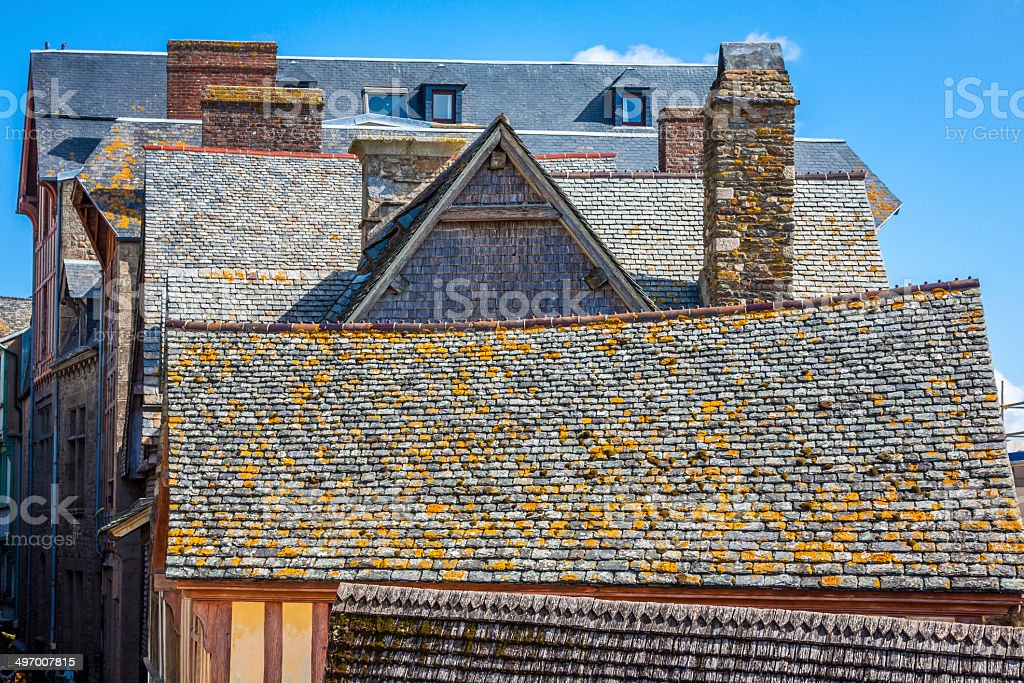 Roofs and houses from the village royalty-free stock photo