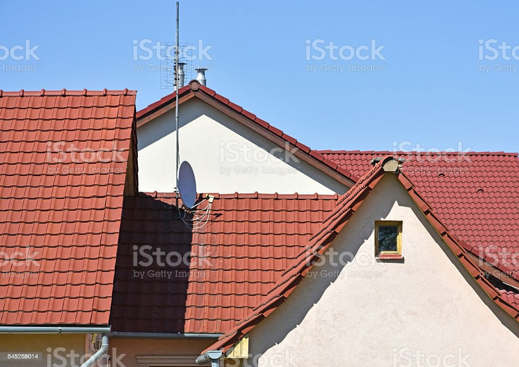 Roofs and houses stock photo