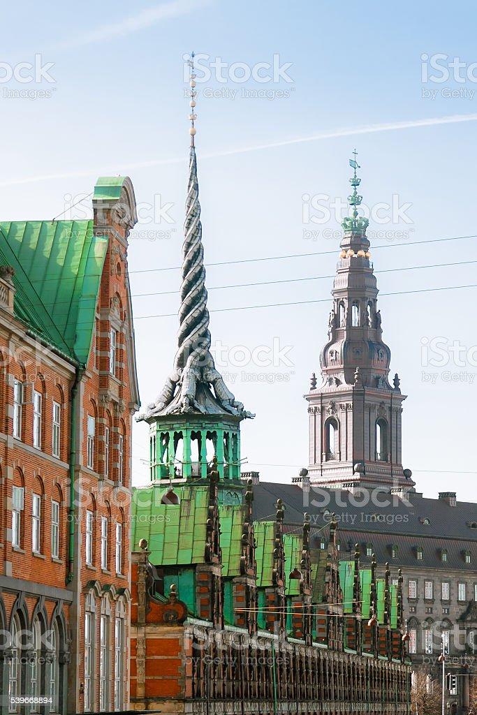 Roofs and Spires of Copenhagen stock photo