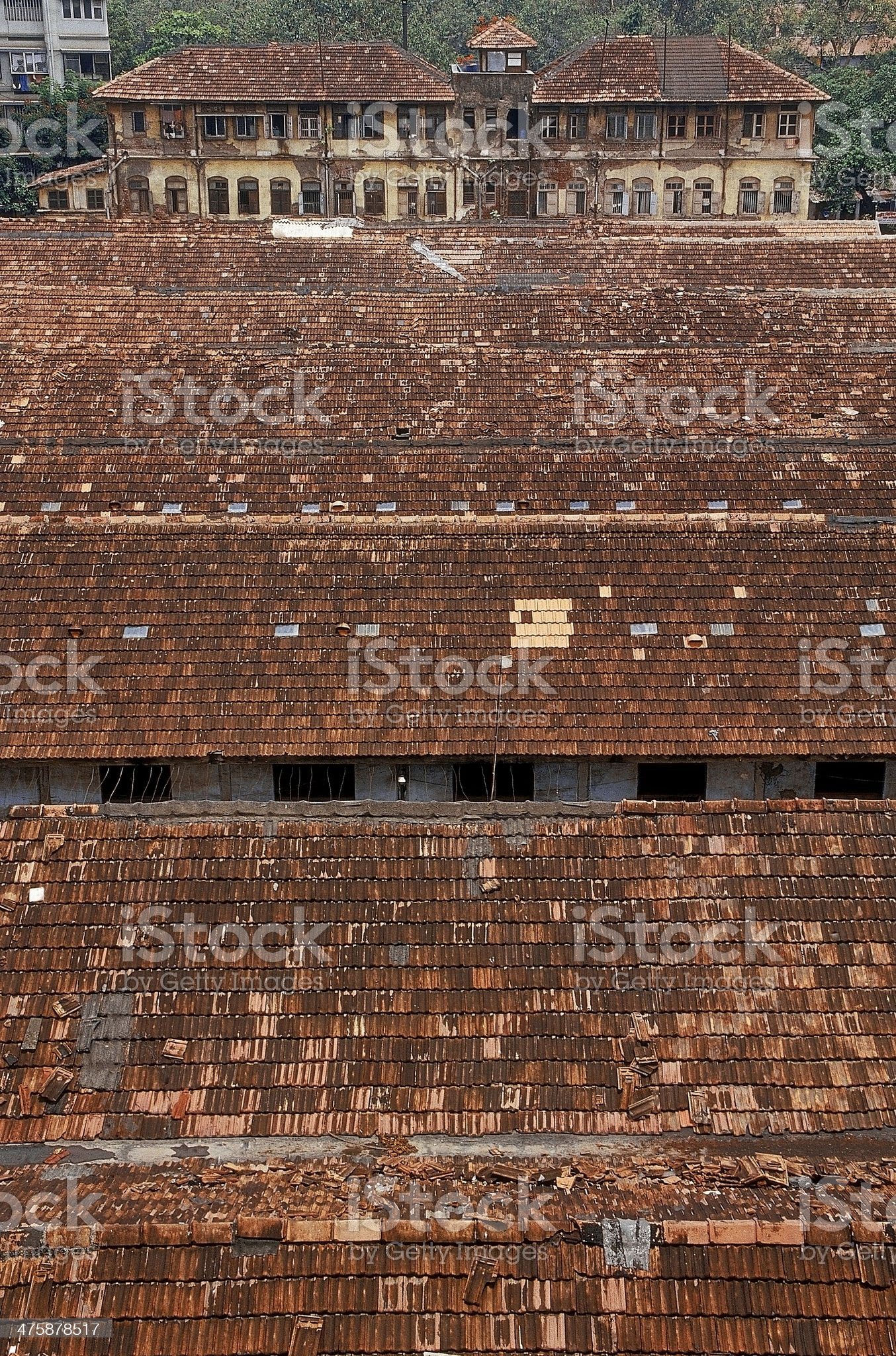 roofs for Chowls made in mangalori tiles royalty-free stock photo