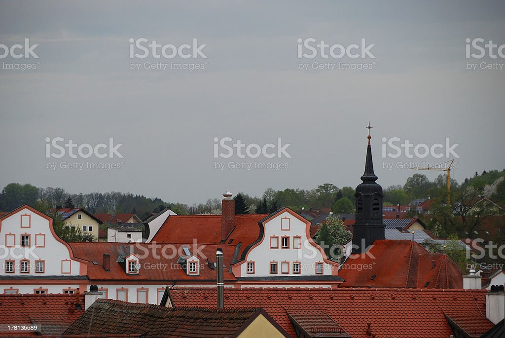 roofs in baroque city royalty-free stock photo