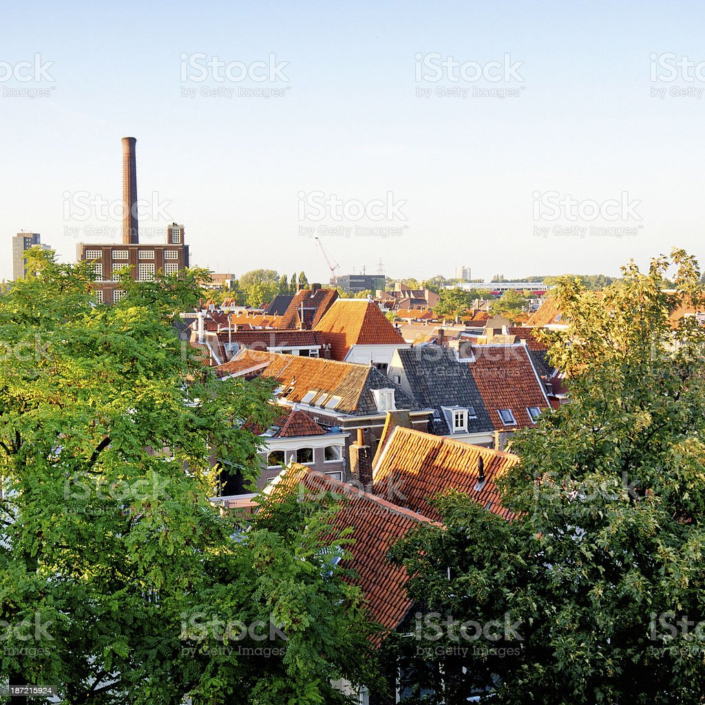 roofs in Leiden Netherlands royalty-free stock photo