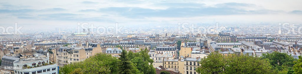 Roofs in residential quarter of Montmartre stock photo