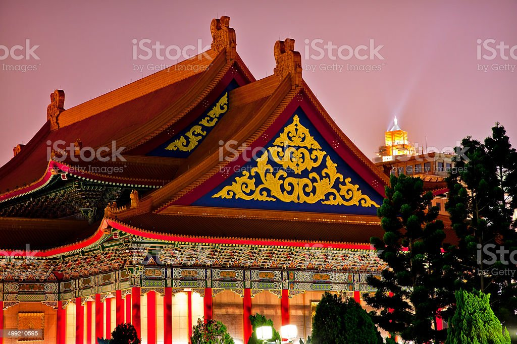 Roofs National Opera House Chiang Kai-Shek Memorial Taipei Taiwa stock photo