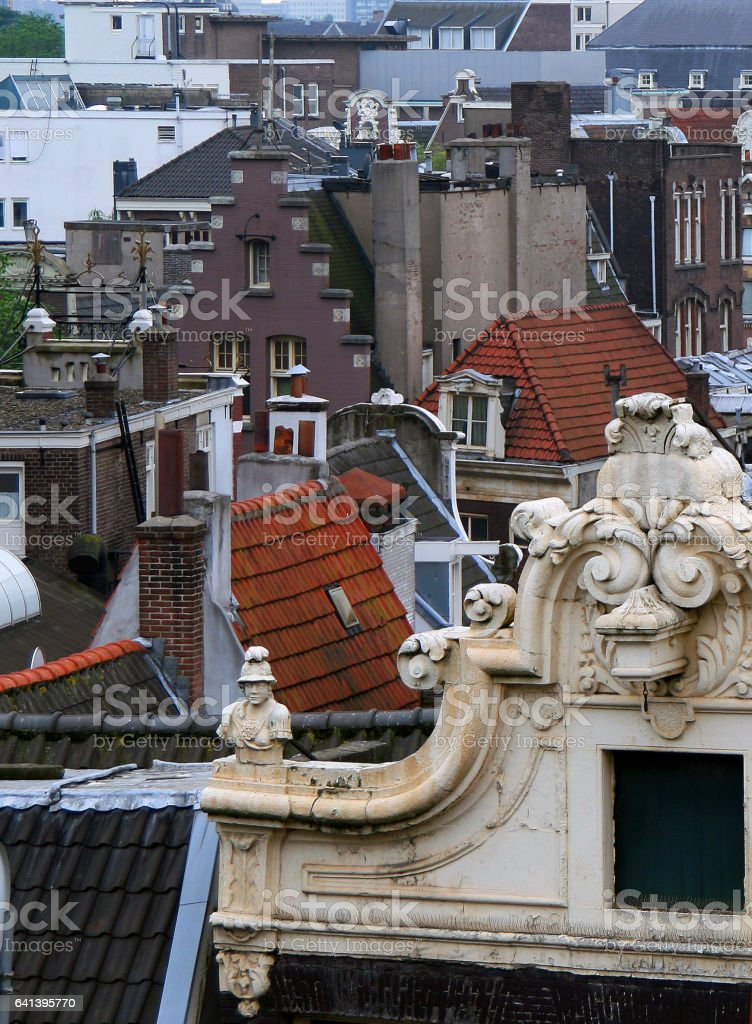 Roofs of Amsterdam stock photo