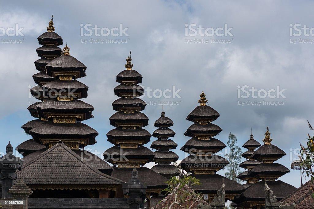 Roofs of Besakih temple stock photo