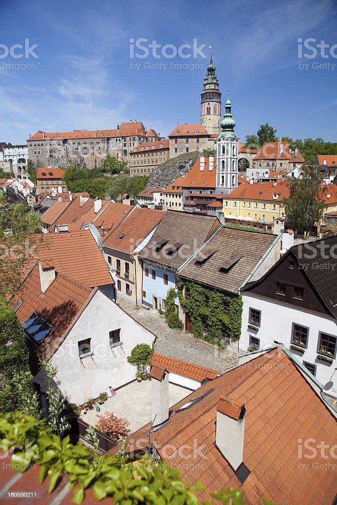 roofs of Cesky Krumlov royalty-free stock photo