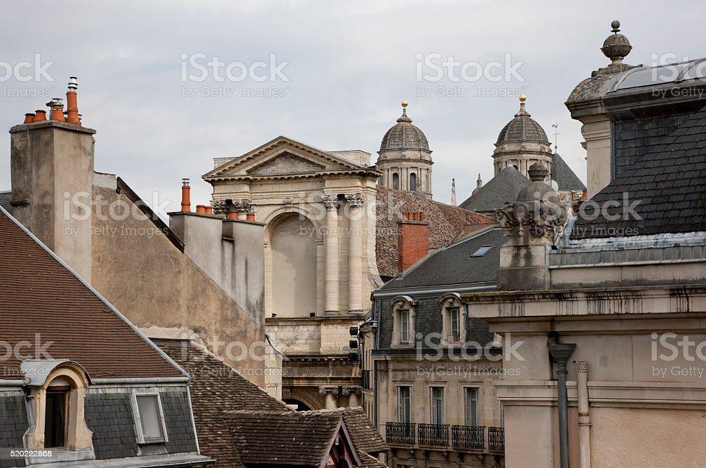 Roofs of Dijon, France stock photo