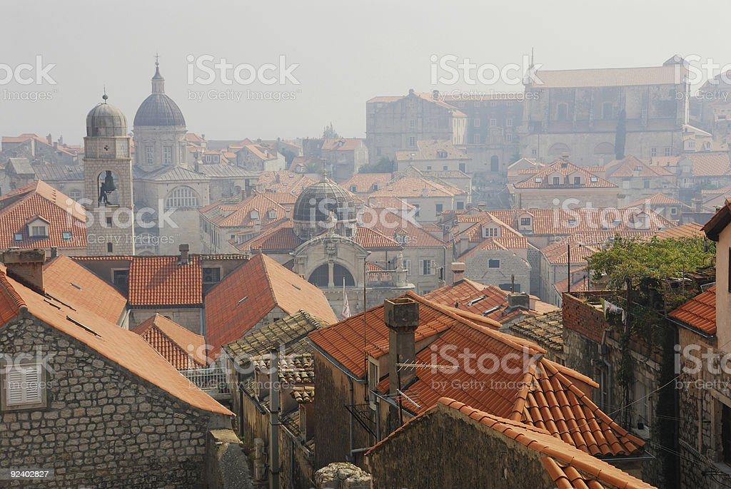 Roofs of Dubrovnik royalty-free stock photo